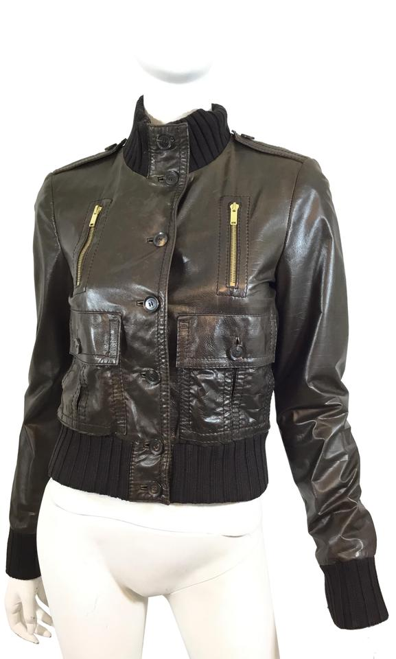 c73e92ed Gucci #bomber Brown Leather Jacket Image 0 ...