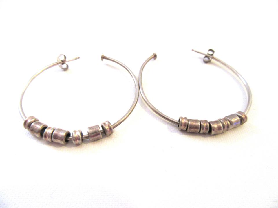 Links Of London Sweetie Sterling Silver Hoop Earrings For Pierced Ears
