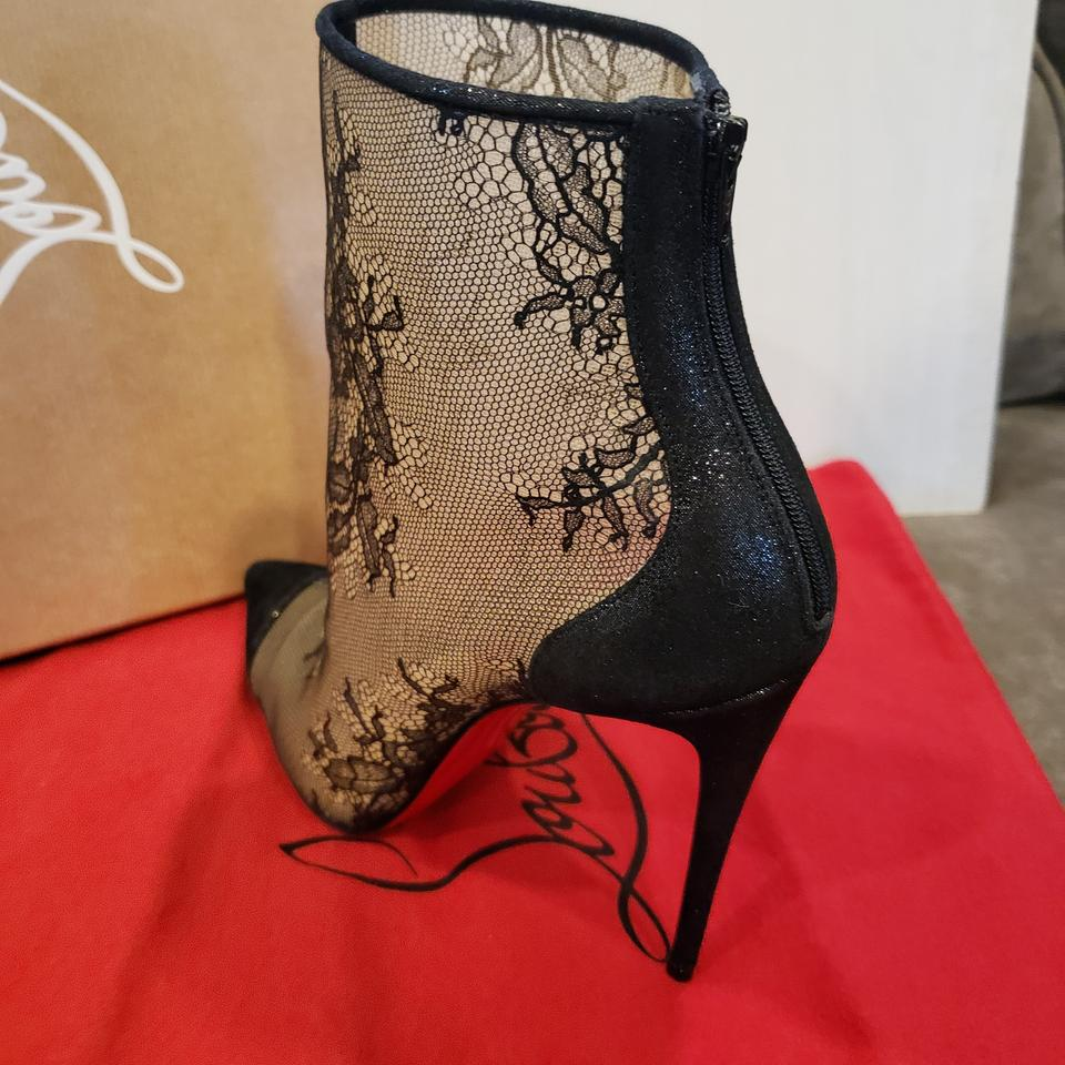 7f6d272d657 Christian Louboutin Black Gipsybootie Gipsy 100 Floral Lace Ankle Heels  Boots/Booties Size EU 38 (Approx. US 8) Regular (M, B) 23% off retail