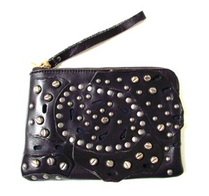 Patricia Nash Designs Leather Studded Classic Wristlet in Black