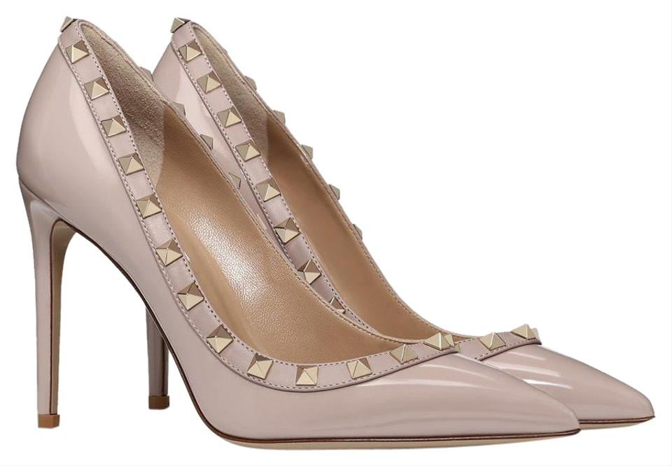 3c2349f517a Valentino Nude Classic Rockstud Court Patent Leather 100mm ...