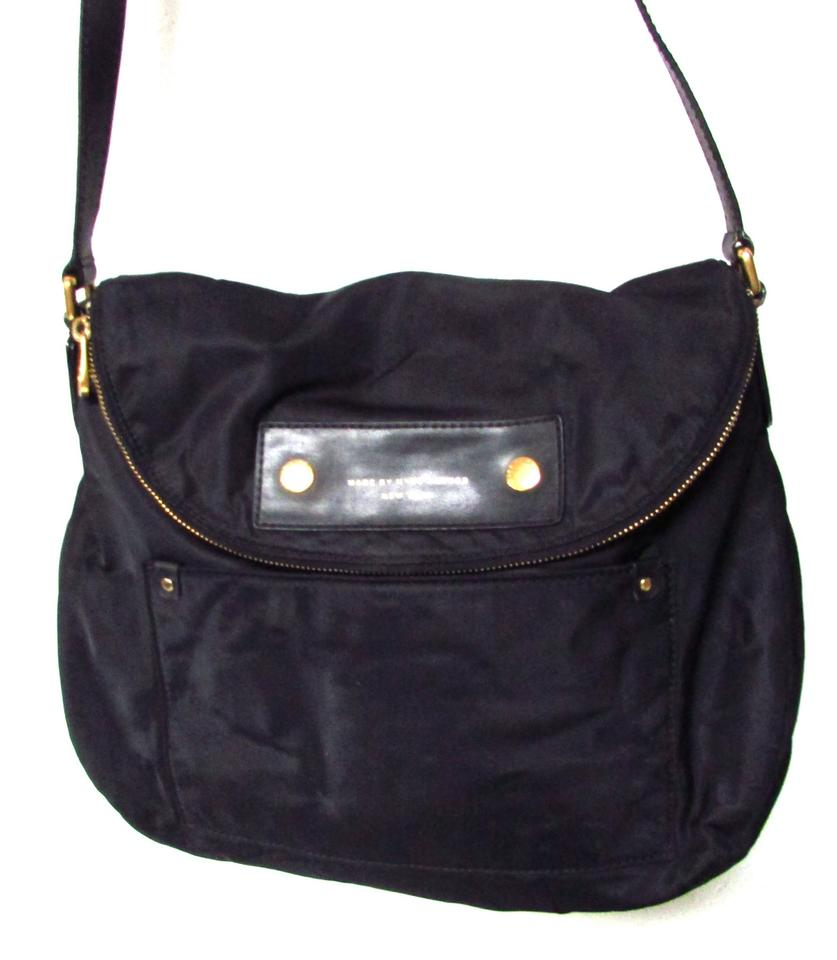5f88e2922989 Marc by Marc Jacobs Classic Foldover Black Nylon Shoulder Bag - Tradesy