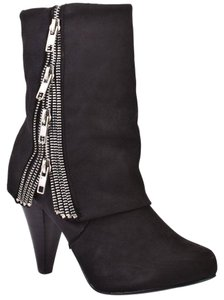 Naughty Monkey Silver Black Boots