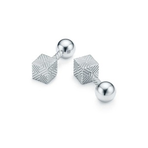 Tiffany & Co. textured cube cuff links