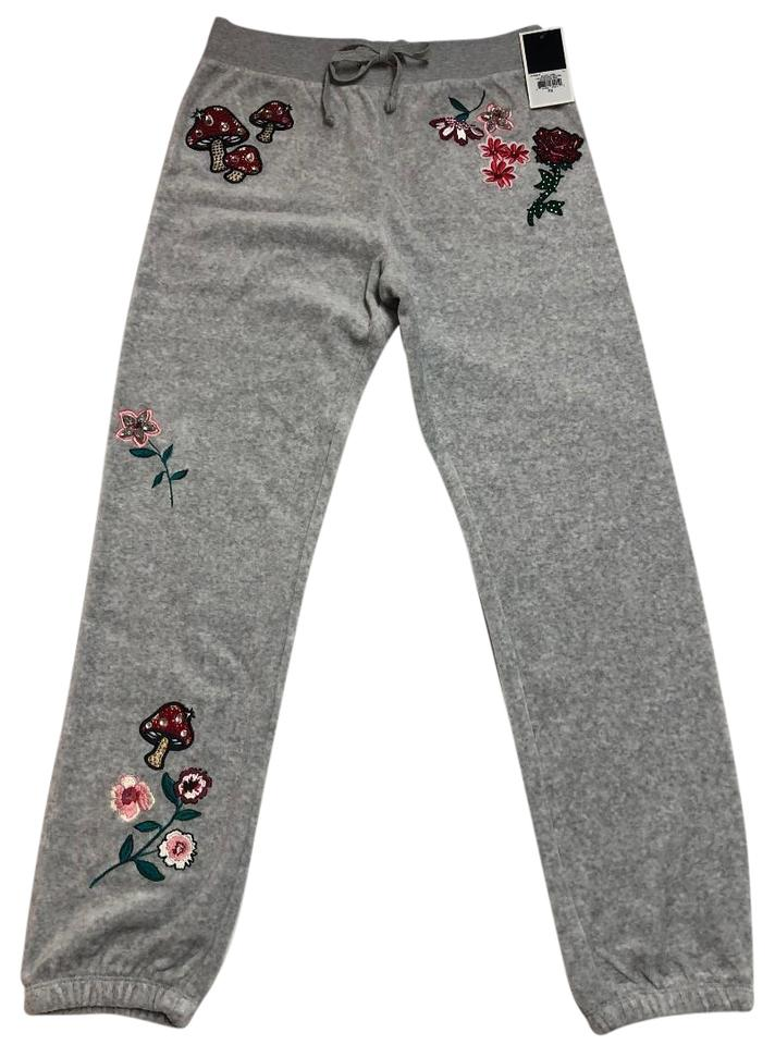1a549ef5e166 Juicy Couture Silver (Grey) Women s Lining Velour Floral Lake Pants ...