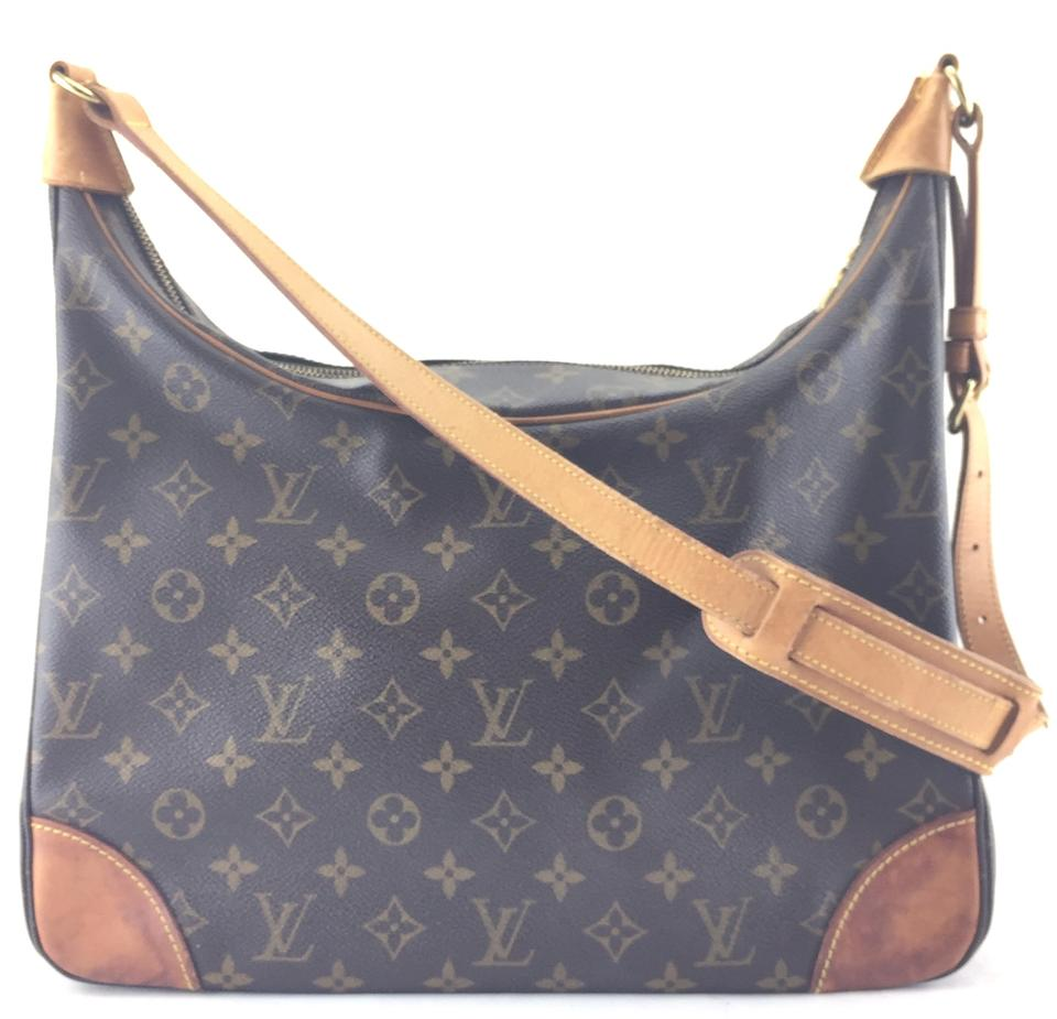 e7a9a9a16b Louis Vuitton Boulogne  24583 Large Tote Monogram Coated Canvas Hobo ...