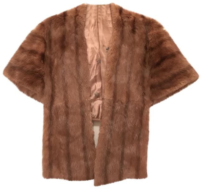 Item - Beige Brown Natural Mink Stole Wrap Cape Coat Size 6 (S)