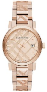 Burberry Rose Gold Tone Dial Stainless Steel Ladies New Bu9039 Watch