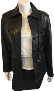 Theory Vince Joie BLACK Leather Jacket