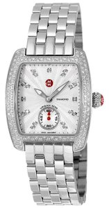 Michele Silver Bracelet Diamond Dial Urban Mini MWW02A000508 Swiss