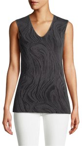 Wolford Clothing Summer Stretchy Marble Top Black/Dark Gray