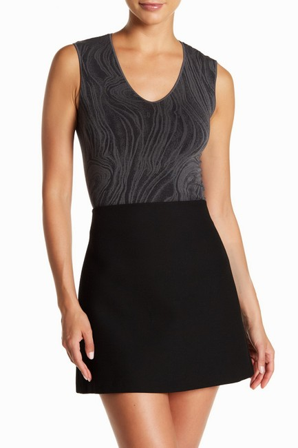 Wolford Clothing Summer Stretchy Marble Top Black/Dark Gray Image 1