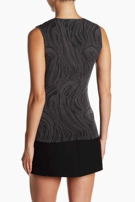 Wolford Clothing Summer Stretchy Marble Top Black/Dark Gray Image 3