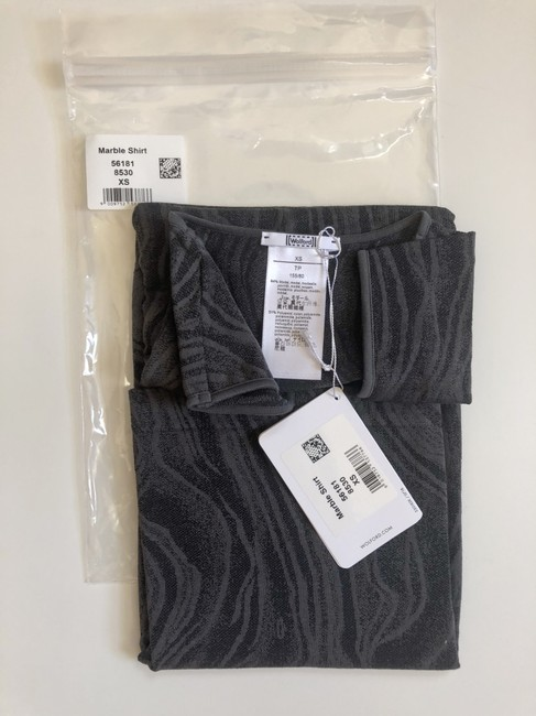 Wolford Clothing Summer Stretchy Marble Top Black/Dark Gray Image 4