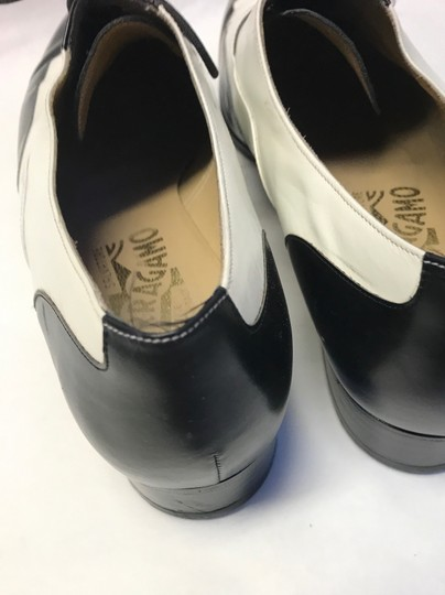 Salvatore Ferragamo Leather Vintage White and Black Baroque Lace Up Formal Shoes Formal Image 3