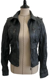 Full Tilt Grey Leather Jacket