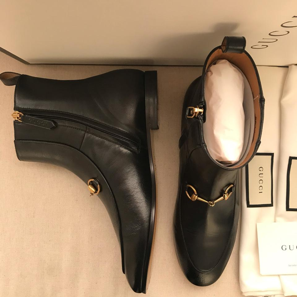 d87aab64d3f Gucci Black Horsebit Jordaan Leather Ankle Boots/Booties Size US 7.5  Regular (M, B) 2% off retail