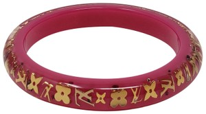 Louis Vuitton Pink resin Louis Vuitton Crystal LV Inclusion bangle