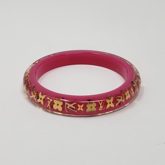 Louis Vuitton Pink resin Louis Vuitton Crystal LV Inclusion bangle Image 6