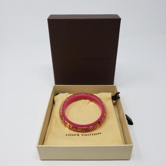Louis Vuitton Pink resin Louis Vuitton Crystal LV Inclusion bangle Image 7
