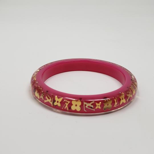 Louis Vuitton Pink resin Louis Vuitton Crystal LV Inclusion bangle Image 9