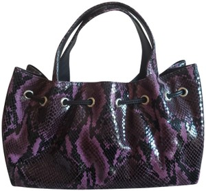 Donald J. Pliner Python Galaxy Mauve Leather Satchel in Style D1159-4963