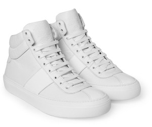 Jimmy Choo High Top Sneakers Sneakers Genuine Leather Sneakers White Athletic