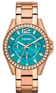 Fossil Fossil Women's Riley ES3385 Rose Gold Stainless-Steel Quartz Watch