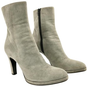 Barneys New York Loubs Career Professional Covered Heel Fitted Grey Boots