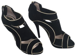 Dior Cut-out Trim Black suede with gold piping Boots