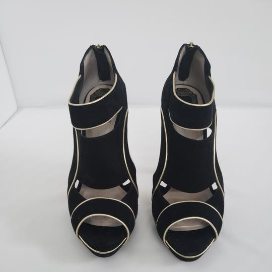 Dior Cut-out Trim Black suede with gold piping Boots Image 1