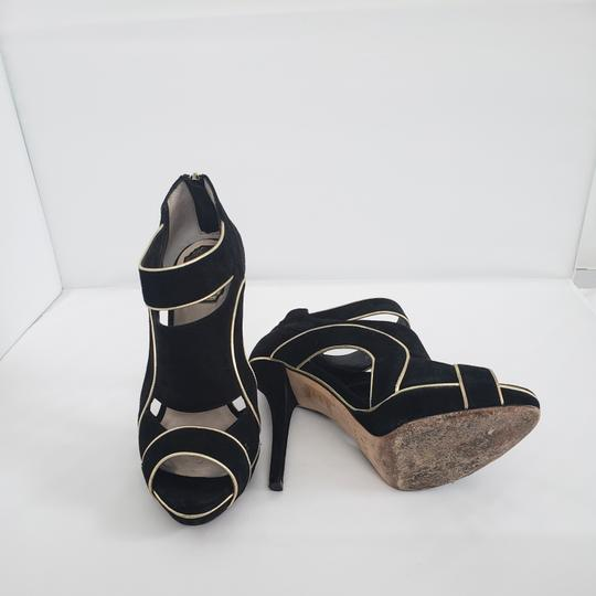 Dior Cut-out Trim Black suede with gold piping Boots Image 3