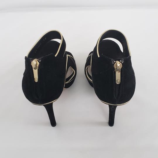 Dior Cut-out Trim Black suede with gold piping Boots Image 5