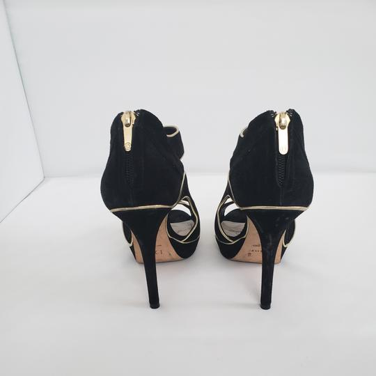 Dior Cut-out Trim Black suede with gold piping Boots Image 7