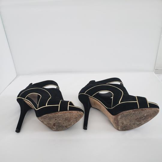 Dior Cut-out Trim Black suede with gold piping Boots Image 9