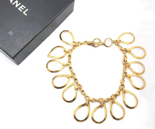 Chanel Chanel Rare Vintage Gold Plated CC Tear Drop Necklace Image 1