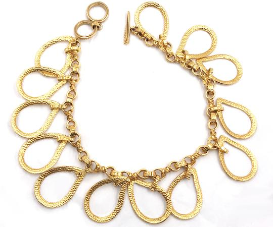Chanel Chanel Rare Vintage Gold Plated CC Tear Drop Necklace Image 2