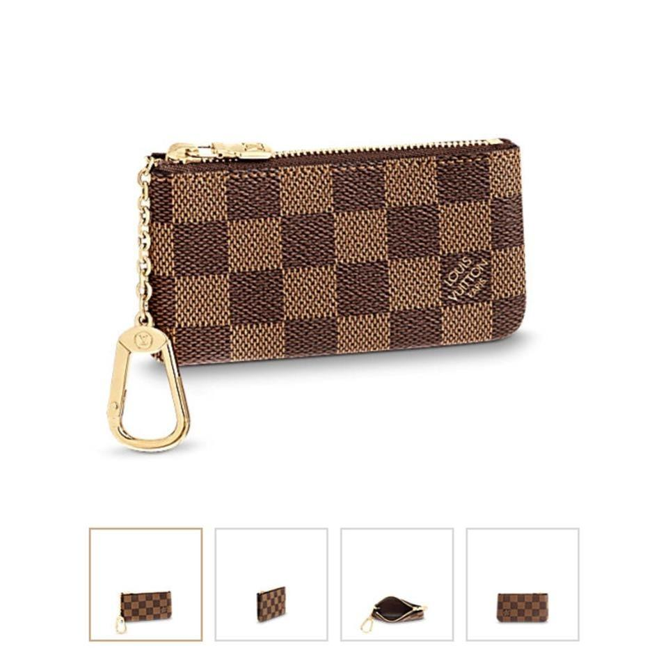 77419cd261cd Louis Vuitton Damier Ebene 2018 Key Pouch Key Holder Charm Wallet ...