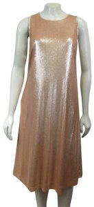 St. John short dress Peach Sequin Glimmer Nwot on Tradesy