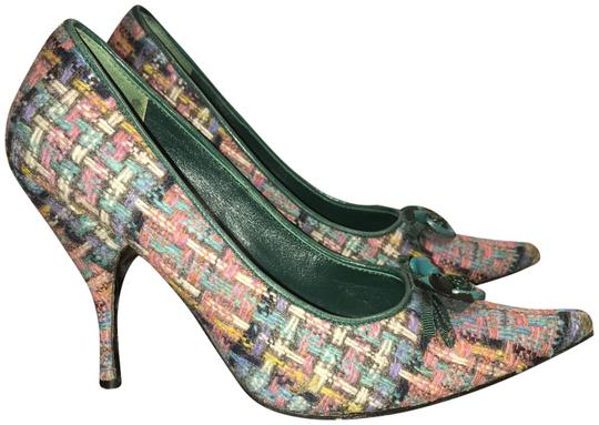 Miu Miu Premium Tweed Heels Womens Multi Pumps Image 0