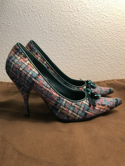 Miu Miu Premium Tweed Heels Womens Multi Pumps Image 3