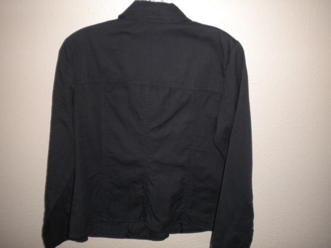 J. Jill Double Breasted Cotton Navy Jacket Image 2