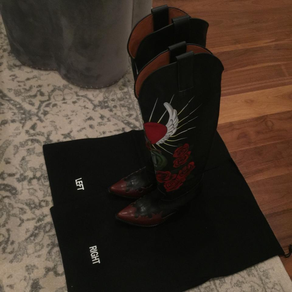 225b037c392 Vetements Black Leather with Hand Painted Art Work Boots/Booties Size EU 38  (Approx. US 8) Narrow (Aa, N) 91% off retail