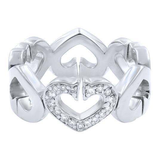 Cartier Cartier C Heart Diamond Ring White Gold US 4 Image 1