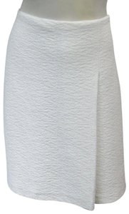 St. John Clair Knit Textured A-line Small Skirt white