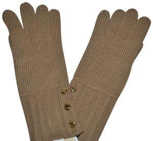 Michael Kors NWT MICHAEL KORS BUTTON DETAILED GLOVES CAMEL GLOVE ONE SIZE 537152C