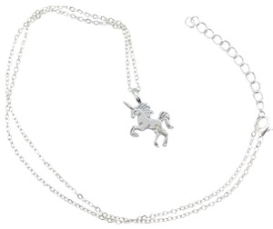 Just Gorgeous Studio Unicorn Pendant On Chain