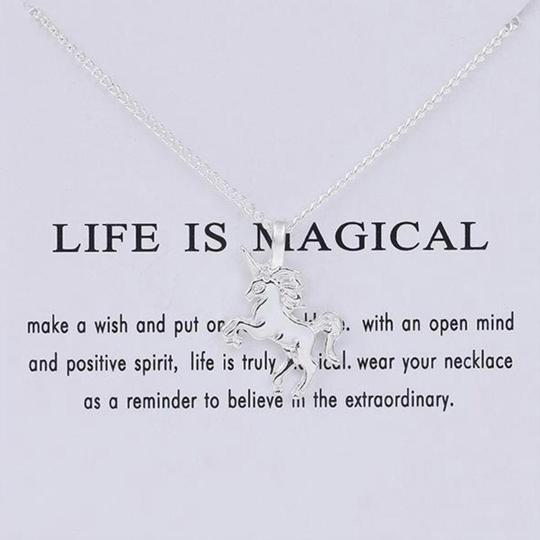 Just Gorgeous Studio Unicorn Pendant On Chain Image 1