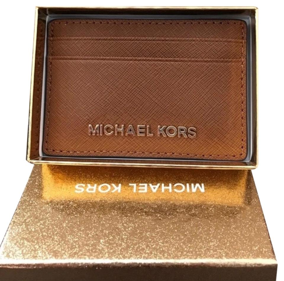 5130bcc74faa Michael Kors Michael kors leather credit card wallet with box Image 0 ...