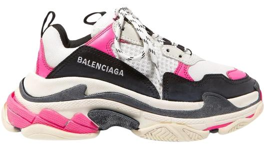 Preload https://img-static.tradesy.com/item/24502075/balenciaga-pink-and-white-triple-s-logo-embroidered-leather-nubuck-and-mesh-sneakers-sneakers-size-e-0-1-540-540.jpg